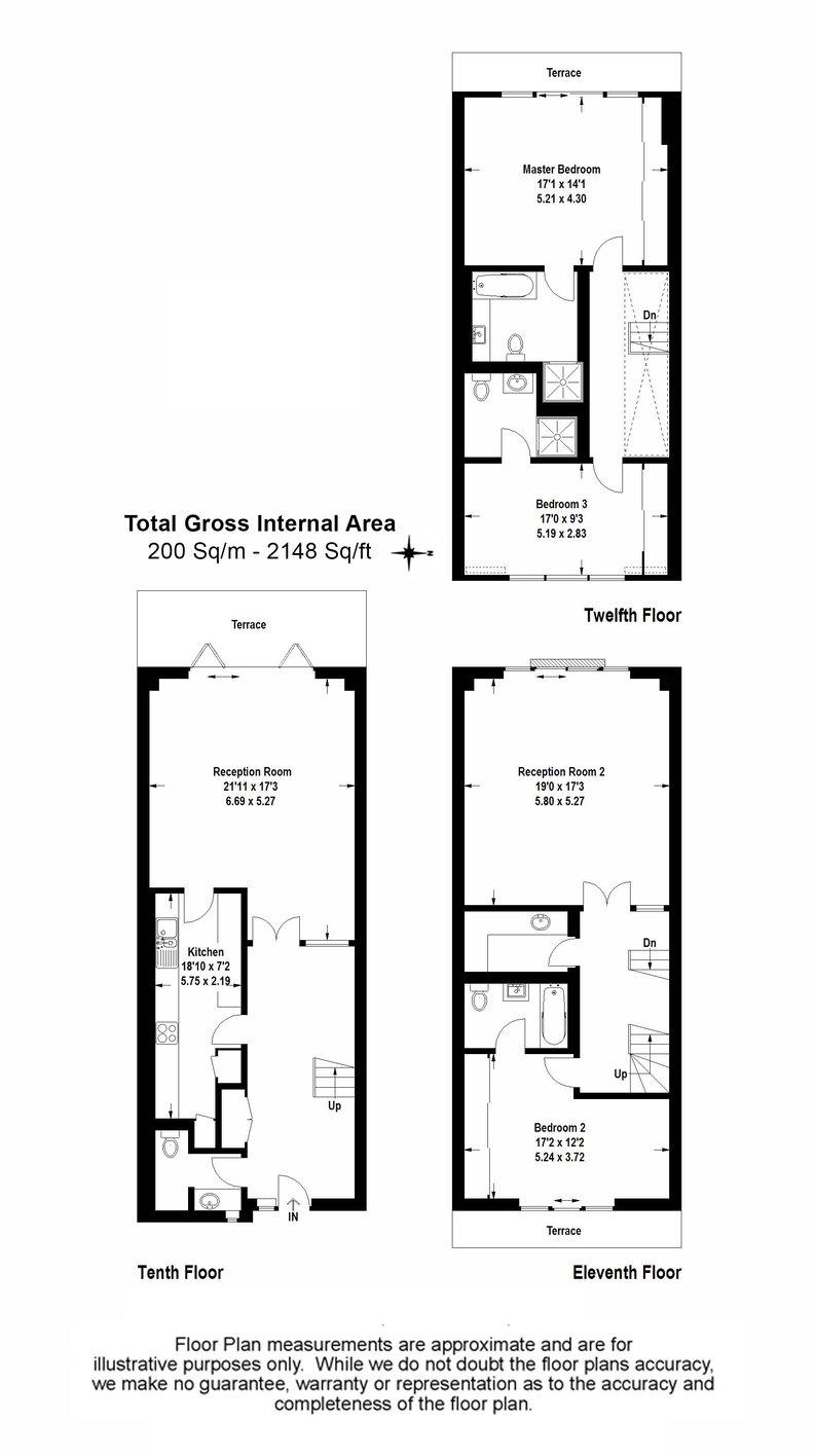 3 bedroom(s) apartment to sale in Cromwell Road, South Kensington, London-Floorplan