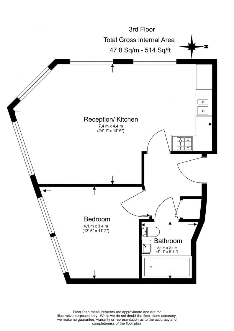1 bedroom(s) apartment to sale in Belvedere, 44 Bedford Row, Holborn-Floorplan