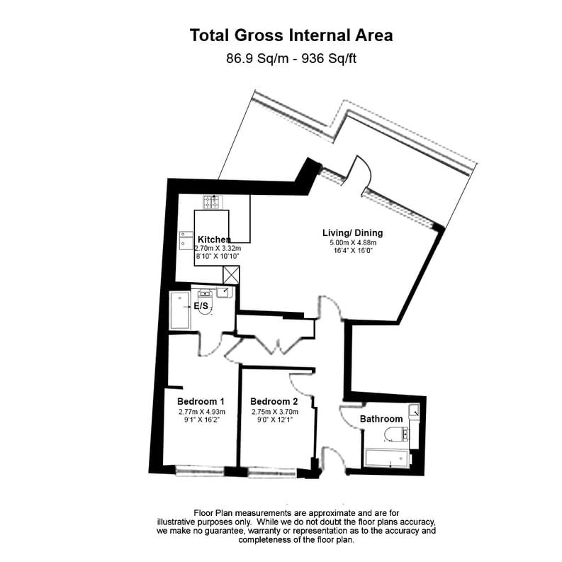 2 bedroom(s) apartment to sale in Quartz House, Dickens Yard, Ealing-Floorplan