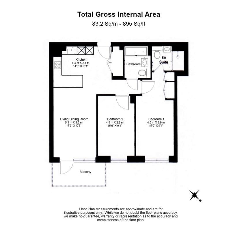 2 bedroom(s) apartment to sale in Bogart House, Filmworks, Ealing-Floorplan