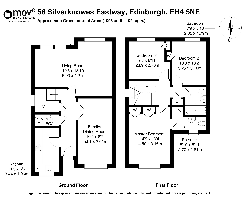 Floorplan 1 of  56 Silverknowes Eastway, Edinburgh, EH4 5NE
