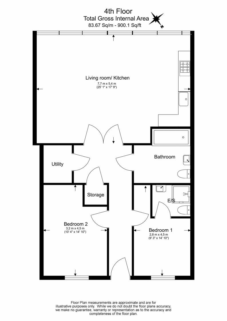 2 bedroom(s) apartment to sale in Hopton Road, Woolwich, London-Floorplan