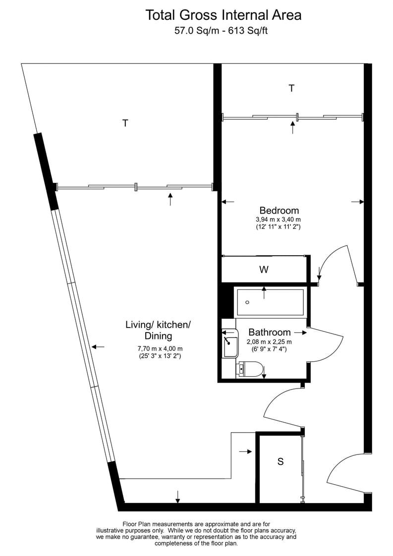 1 bedroom(s) apartment to sale in Pearl House, 5 Market Road, London-Floorplan
