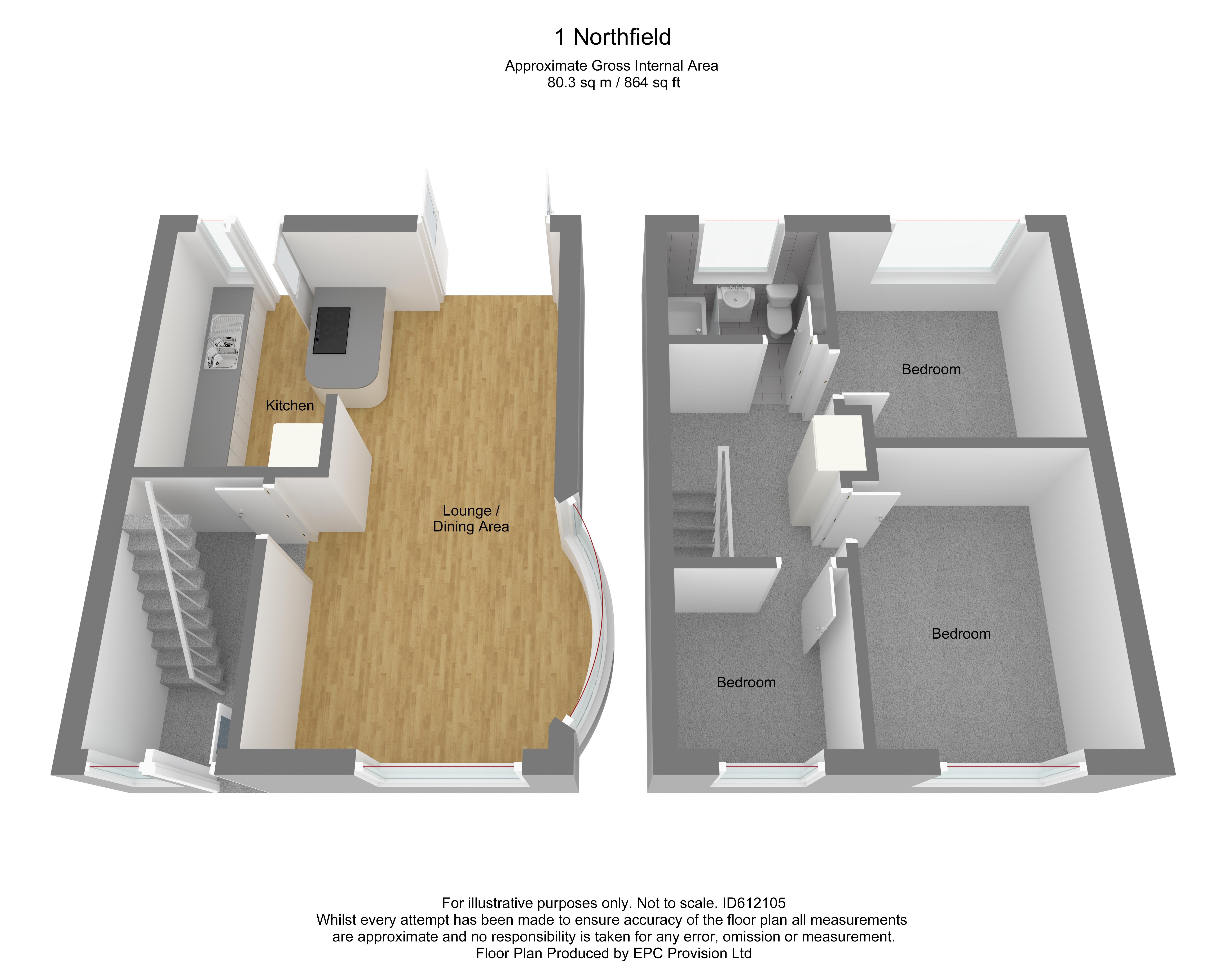 Floorplan for Northfield, Yate.