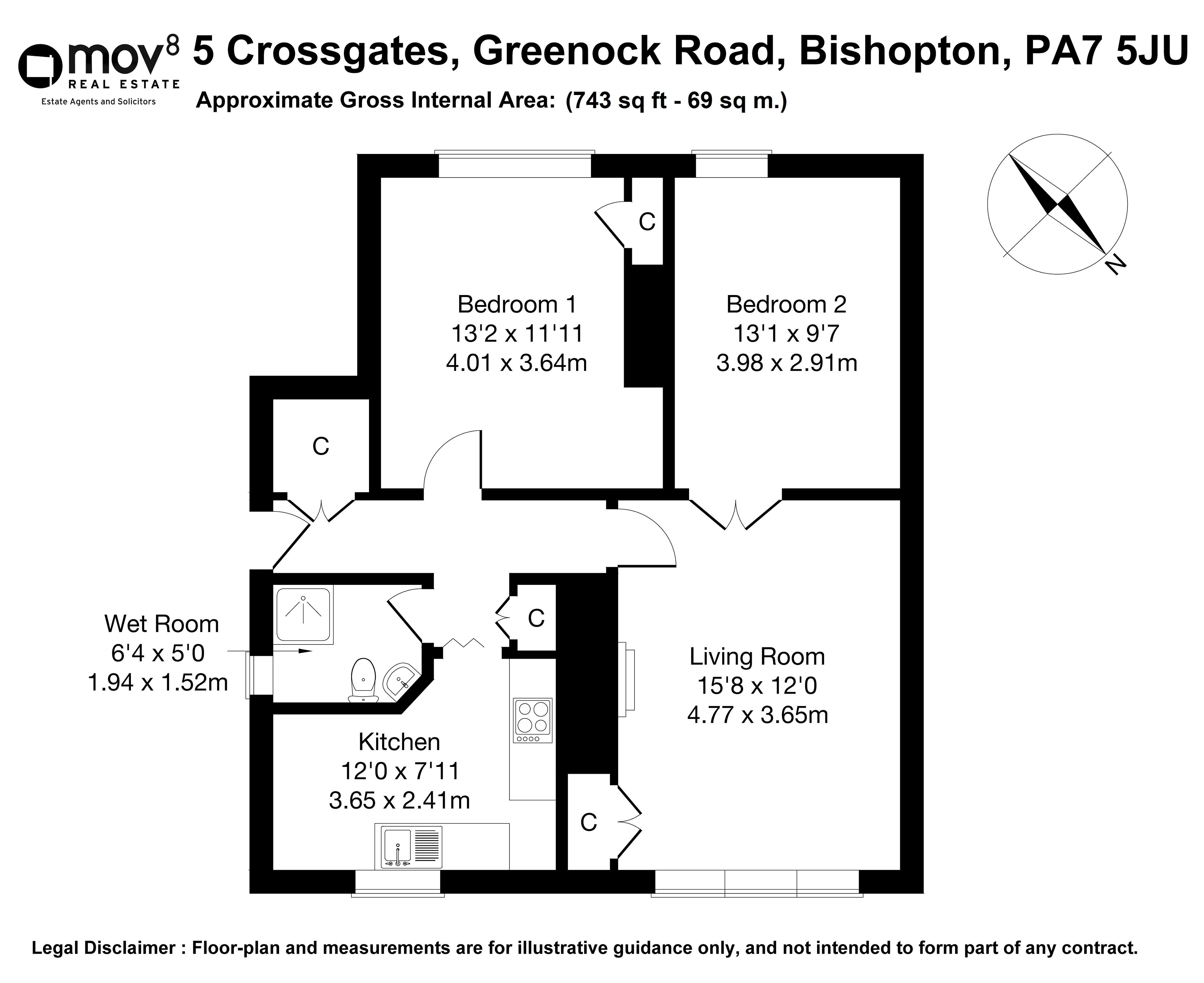 Floorplan 1 of 5 Crossgates Greenock Road, Bishopton, Renfrewshire, PA7 5JU