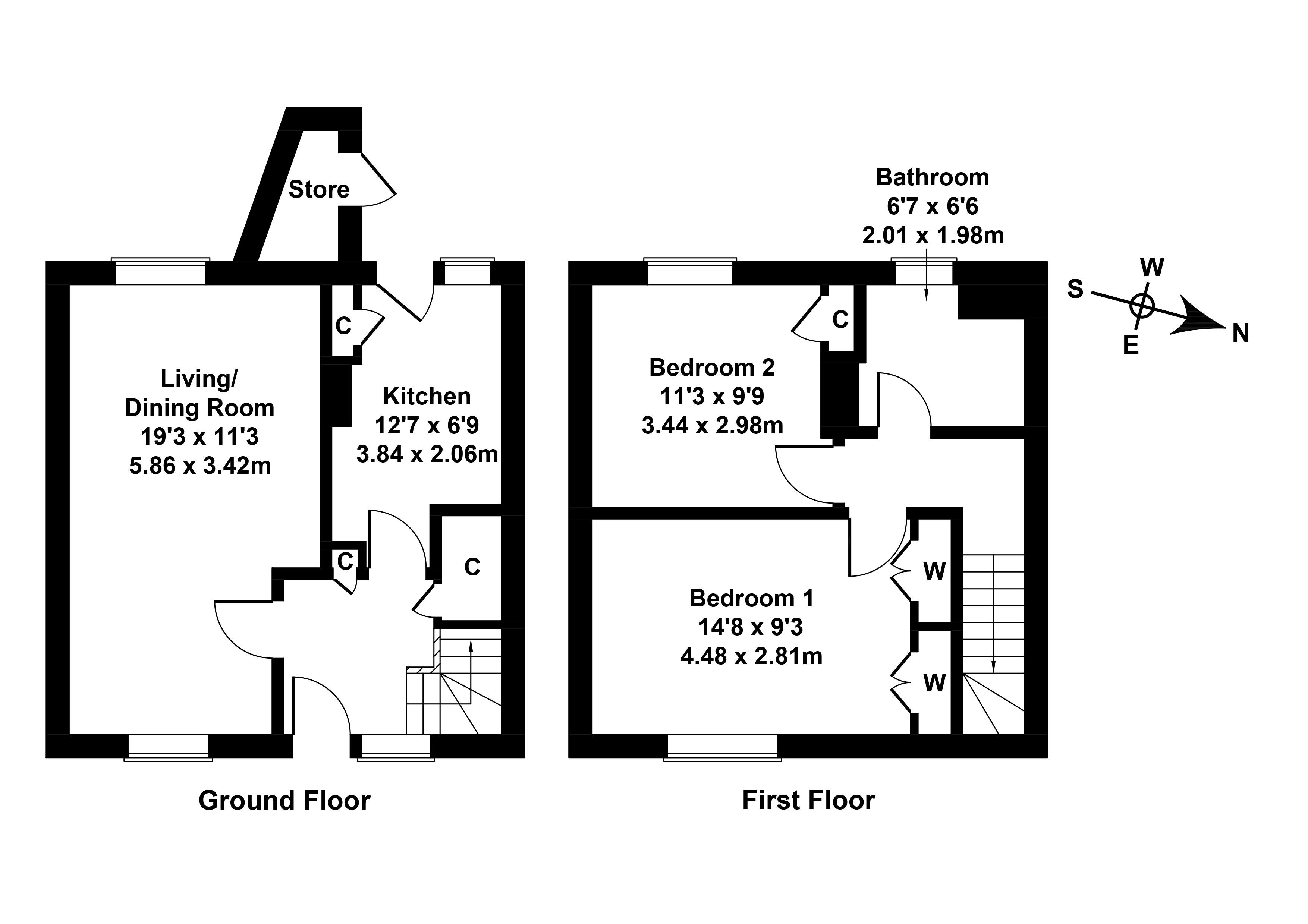 Floorplan 1 of 17 Blawearie Road, Tranent, East Lothian, EH33 2BG