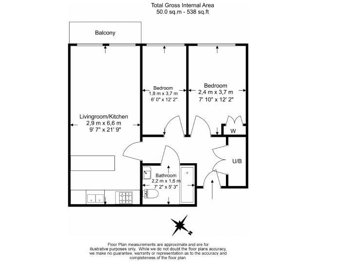 2 bedroom(s) apartment to sale in Croft House, 21 Heritage Avenue, Beaufort Park, Colindale-Floorplan