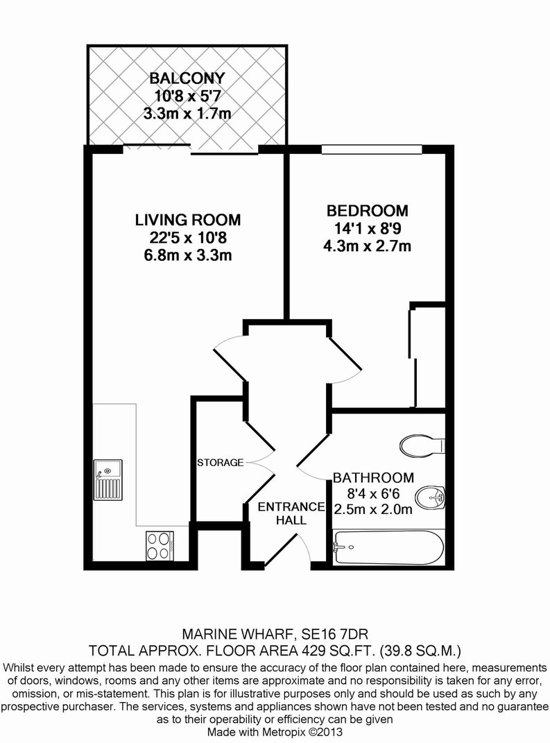 1 bedroom(s) apartment to sale in Sirius House, Seafarer Way, London-Floorplan