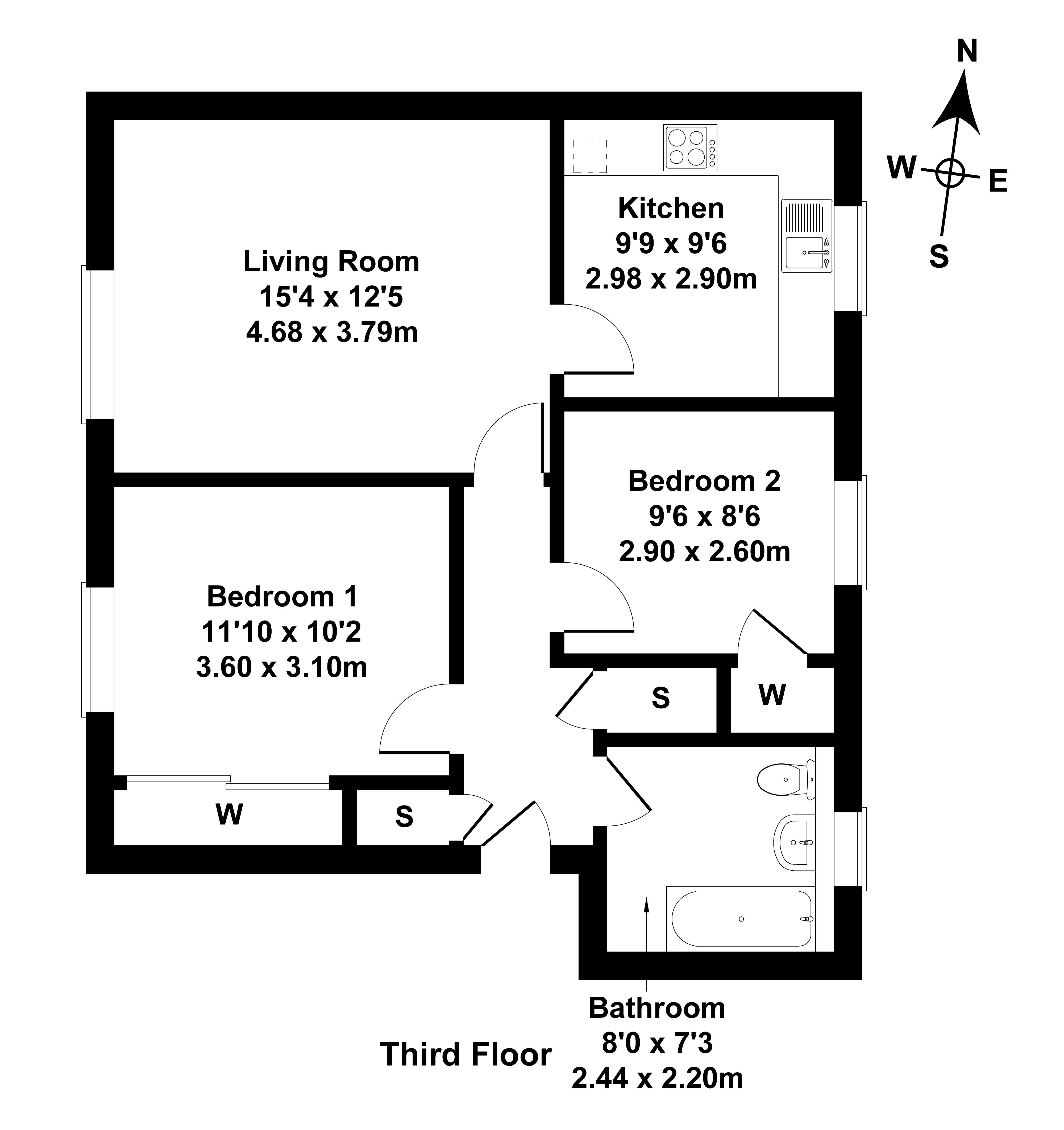 Floorplan 1 of Flat 5, 4 St Triduanas Rest, Restalrig, Edinburgh, EH7 6LN