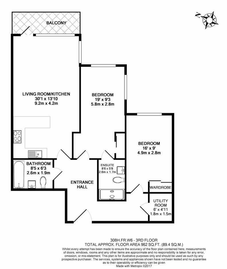 2 bedroom(s) apartment to sale in Brunswick House, Fulham Reach, Hammersmith-Floorplan