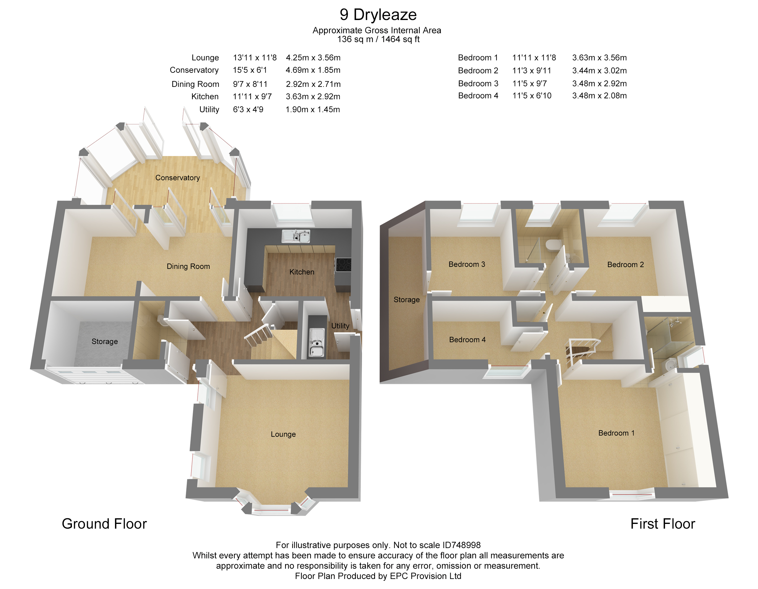 Floorplan for Dryleaze, Yate.