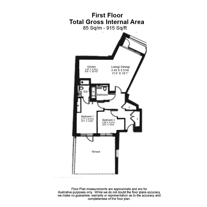 2 bedroom(s) apartment to sale in Quartz House, Dickens Yard-Floorplan