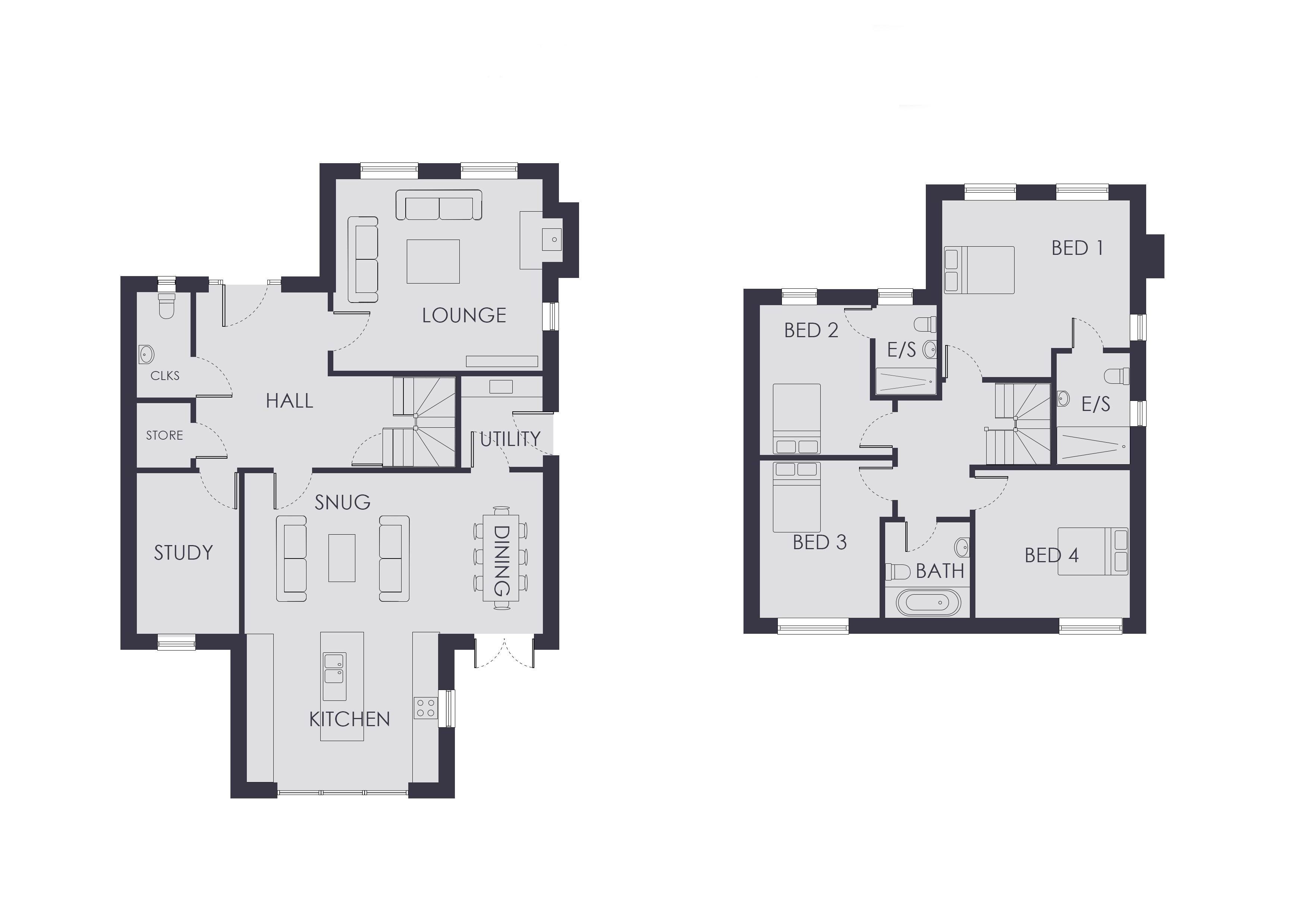 Mill Ash House (Plot 1) Millfield Place , Easingwold, York property floorplan