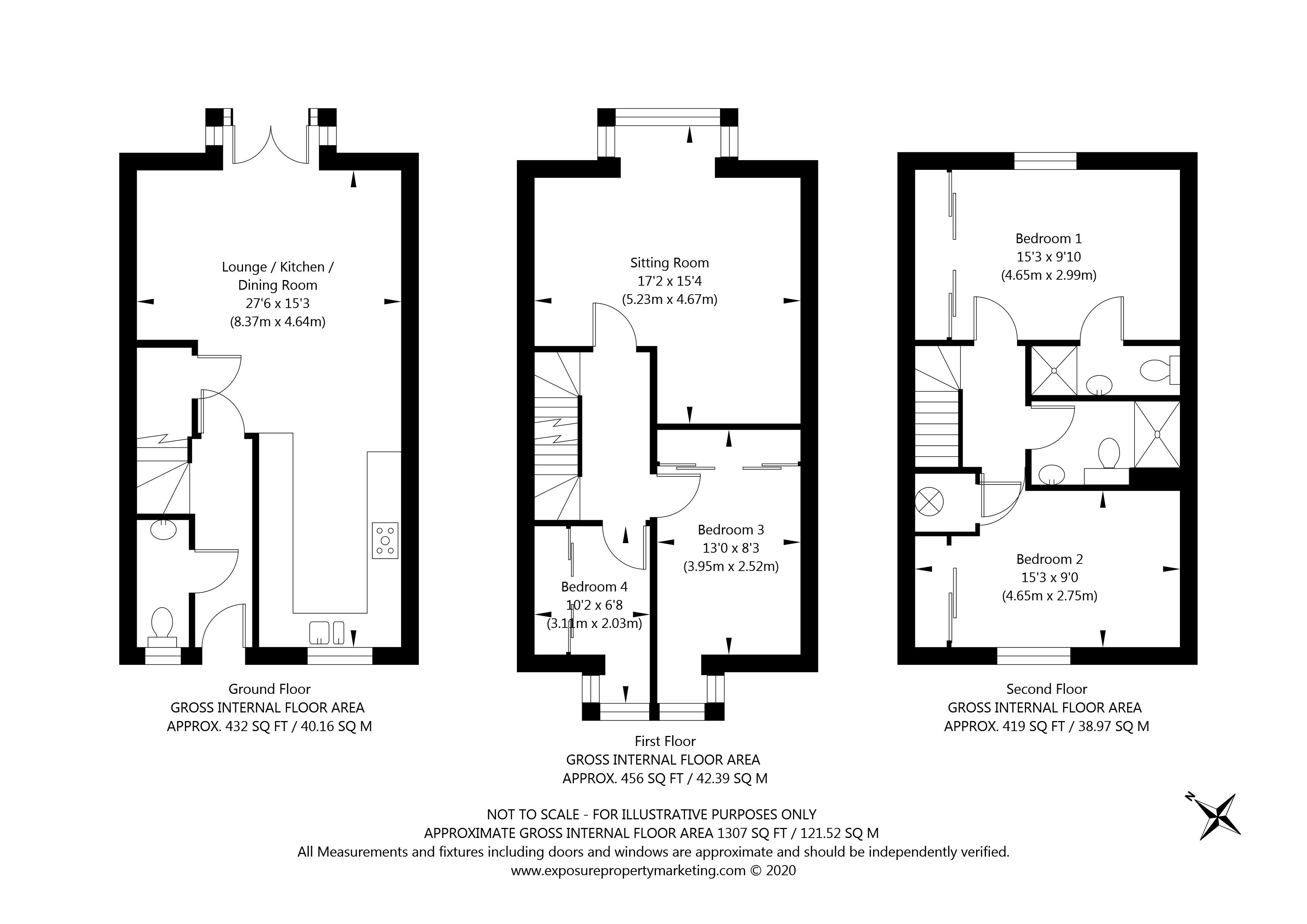 St Johns Walk, York property floorplan