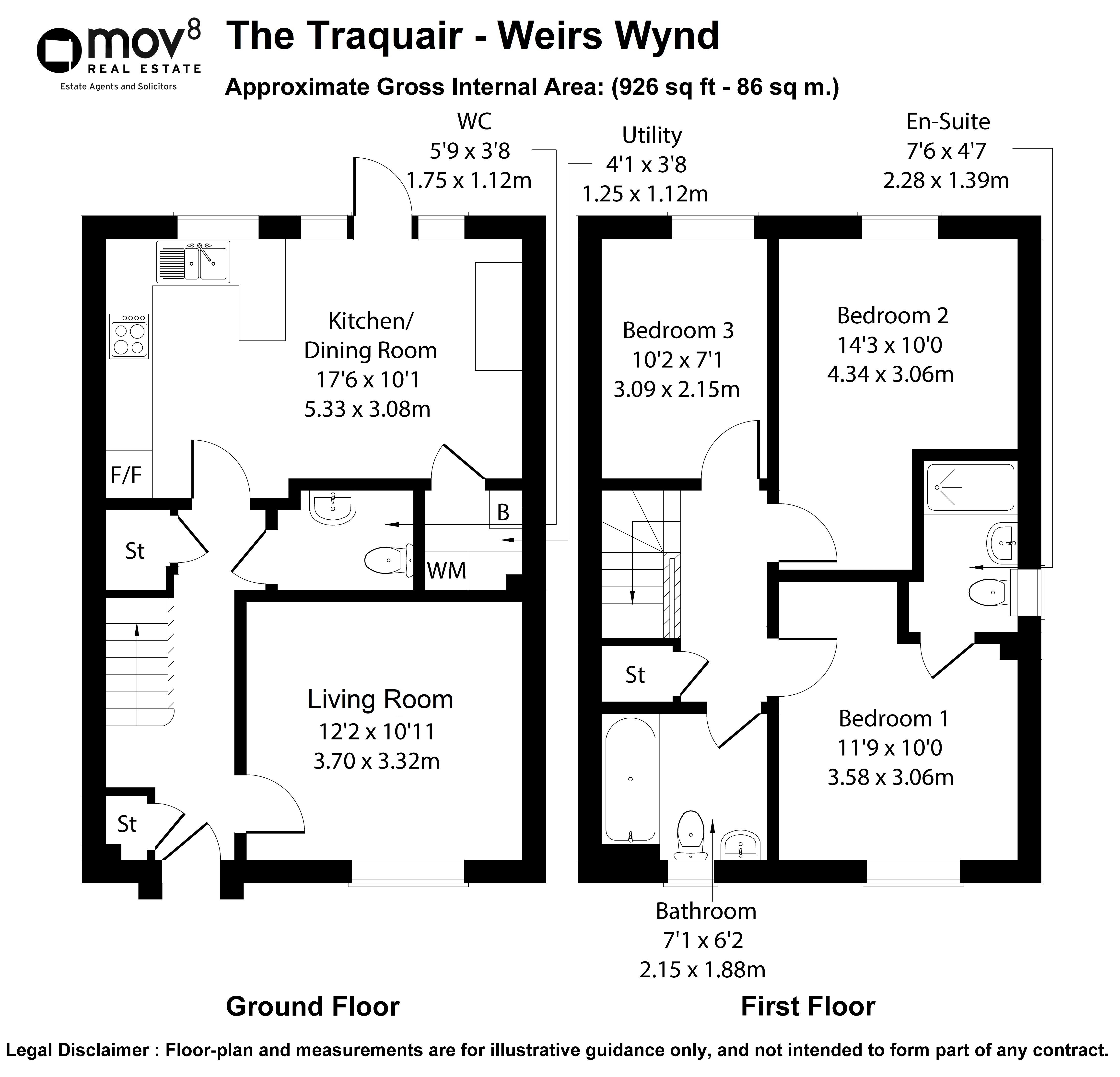 Floorplan 1 of Weirs Wynd , The Traquair Barochan Road, Brookfield, Johnstone, Renfrewshire, PA6 7AA