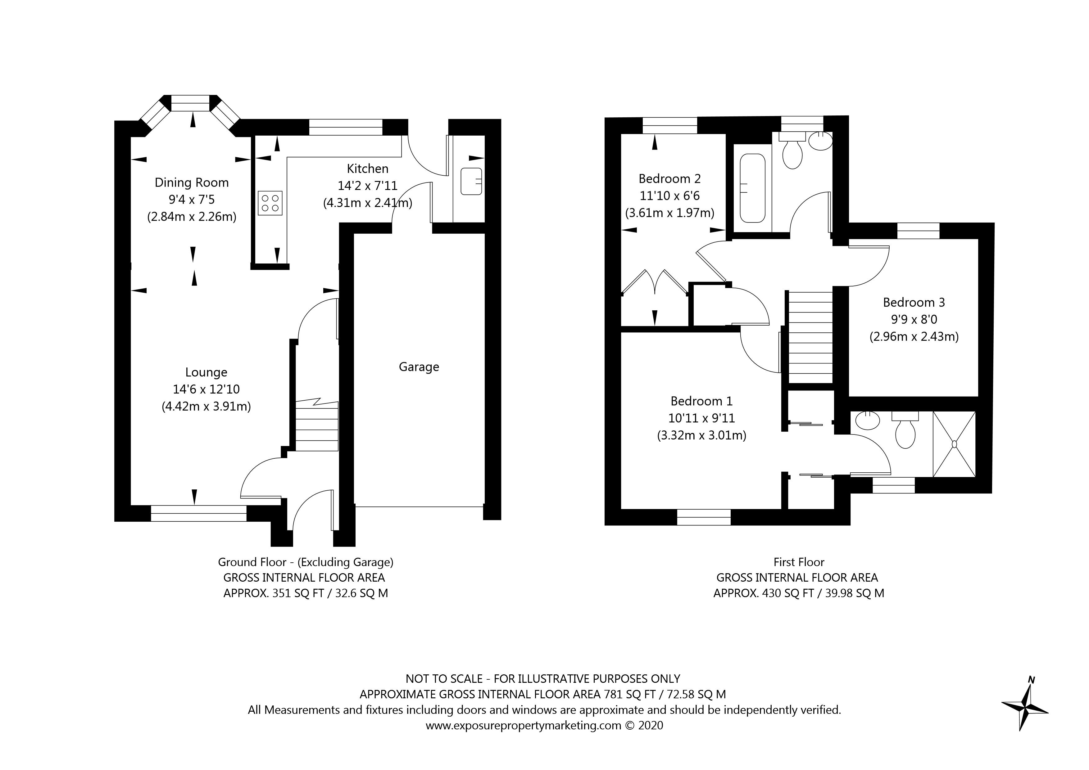 Roseberry Grove, York property floorplan