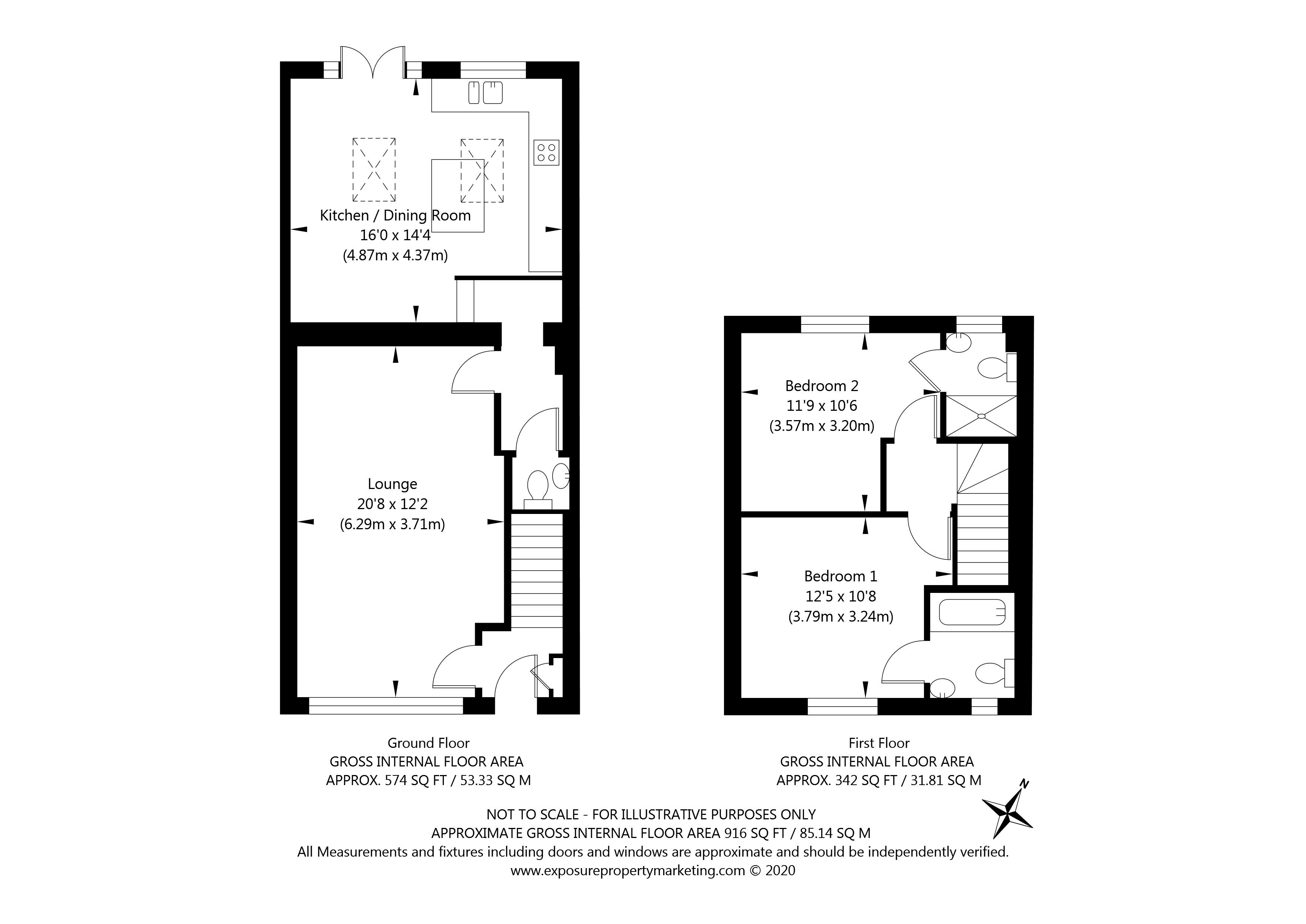 Huntington Road, York property floorplan