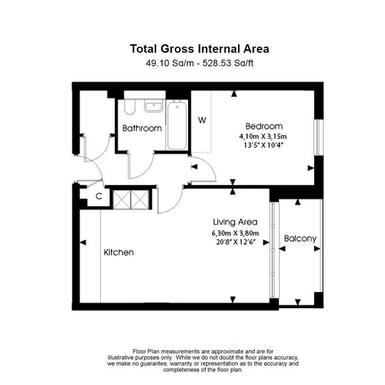 1 bedroom(s) apartment to sale in Bridgeman House, Pump House Crescent, Brentford-Floorplan