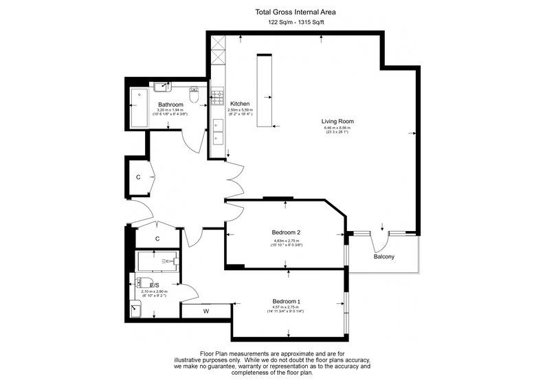 2 bedroom(s) apartment to sale in Rothschild House, 8 Kew Bridge Road, Greater London, Brentford-Floorplan
