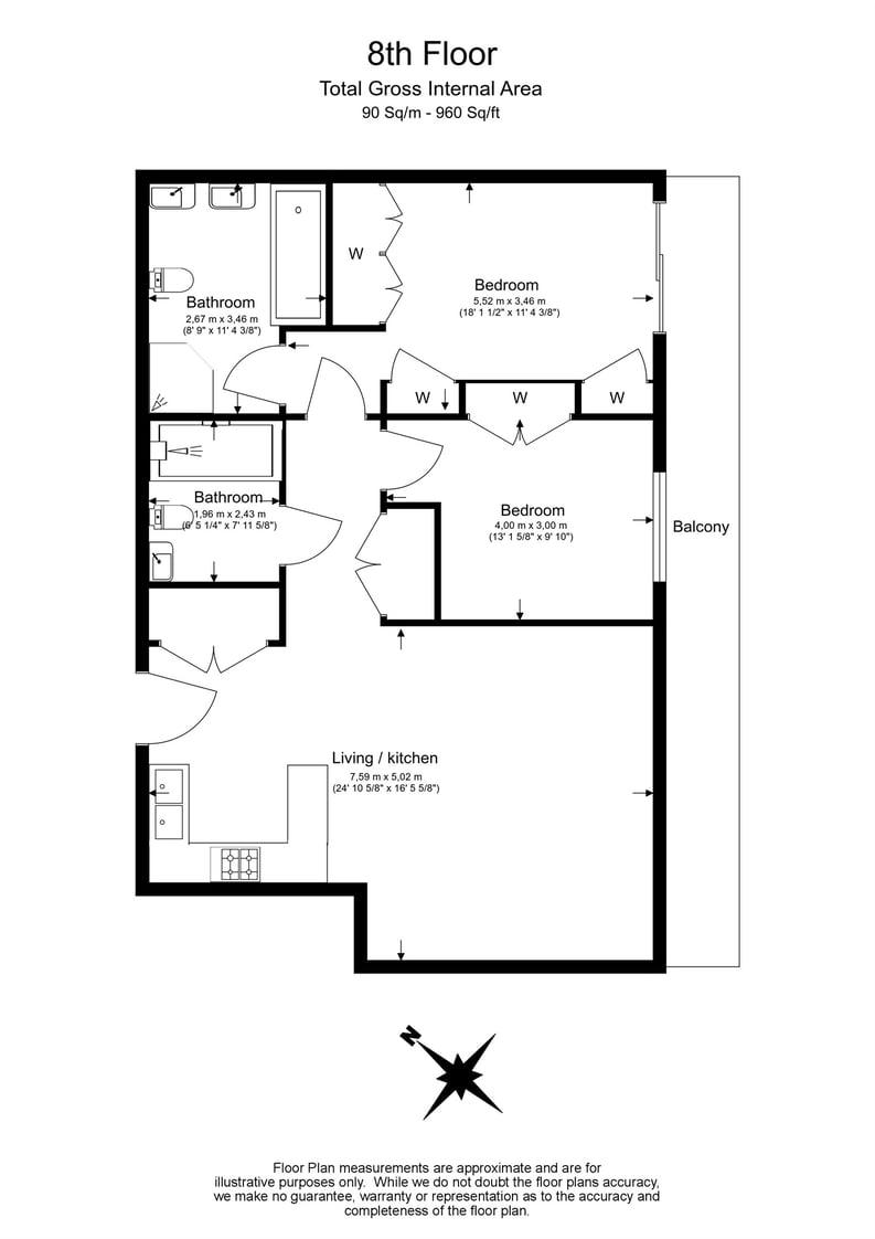 2 bedroom(s) apartment to sale in Nova Building, 87 Buckingham Palace Road, Victoria-Floorplan