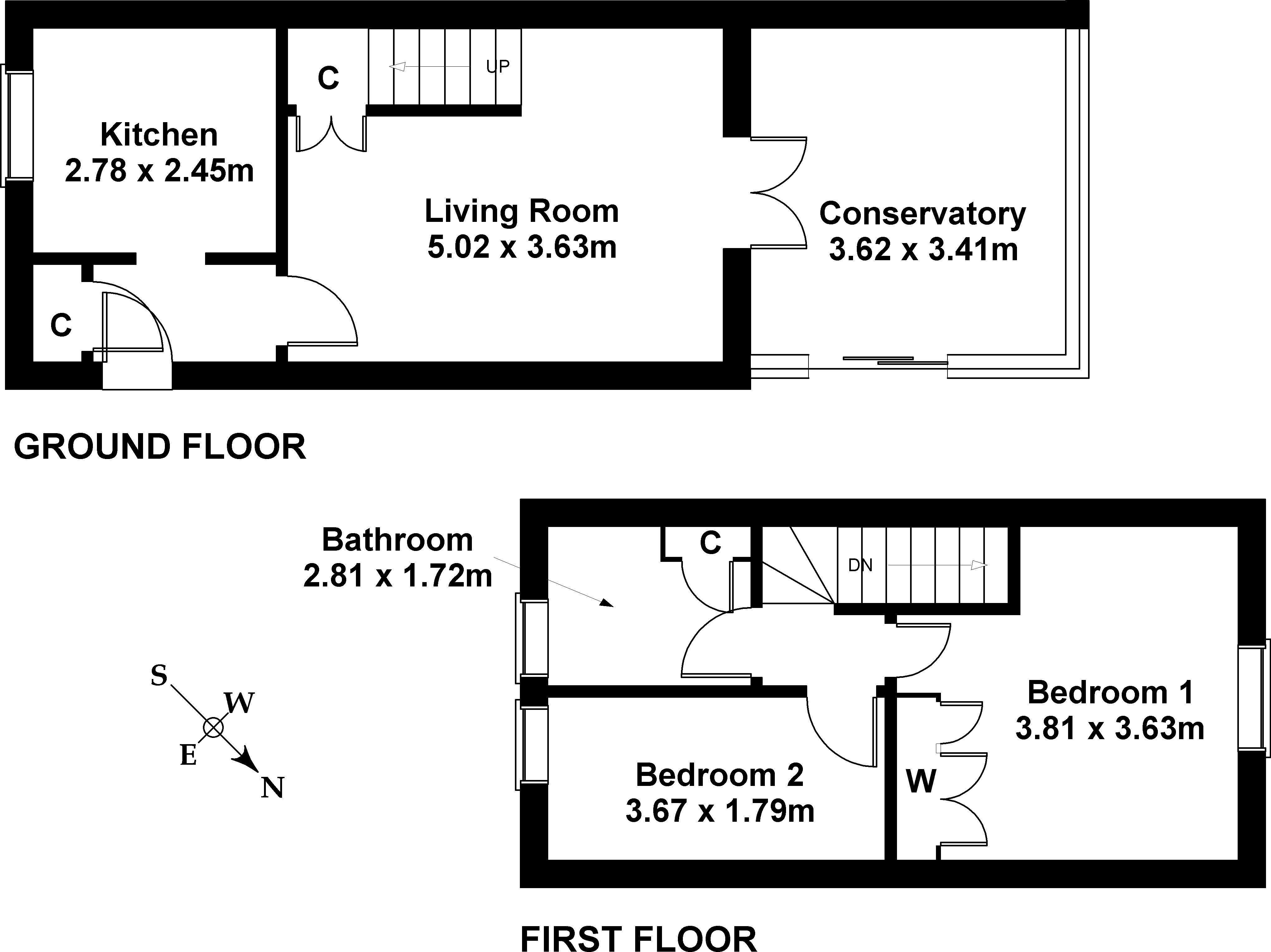 Floorplan 1 of 16 Speedwell Avenue, Danderhall, Dalkeith, Midlothian, EH22 1RA