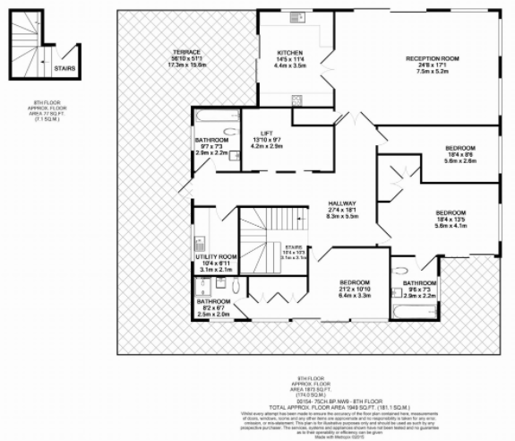3 bedroom(s) apartment to sale in Croft House, Heritage Avenue, Beaufort Park, Colindale-Floorplan