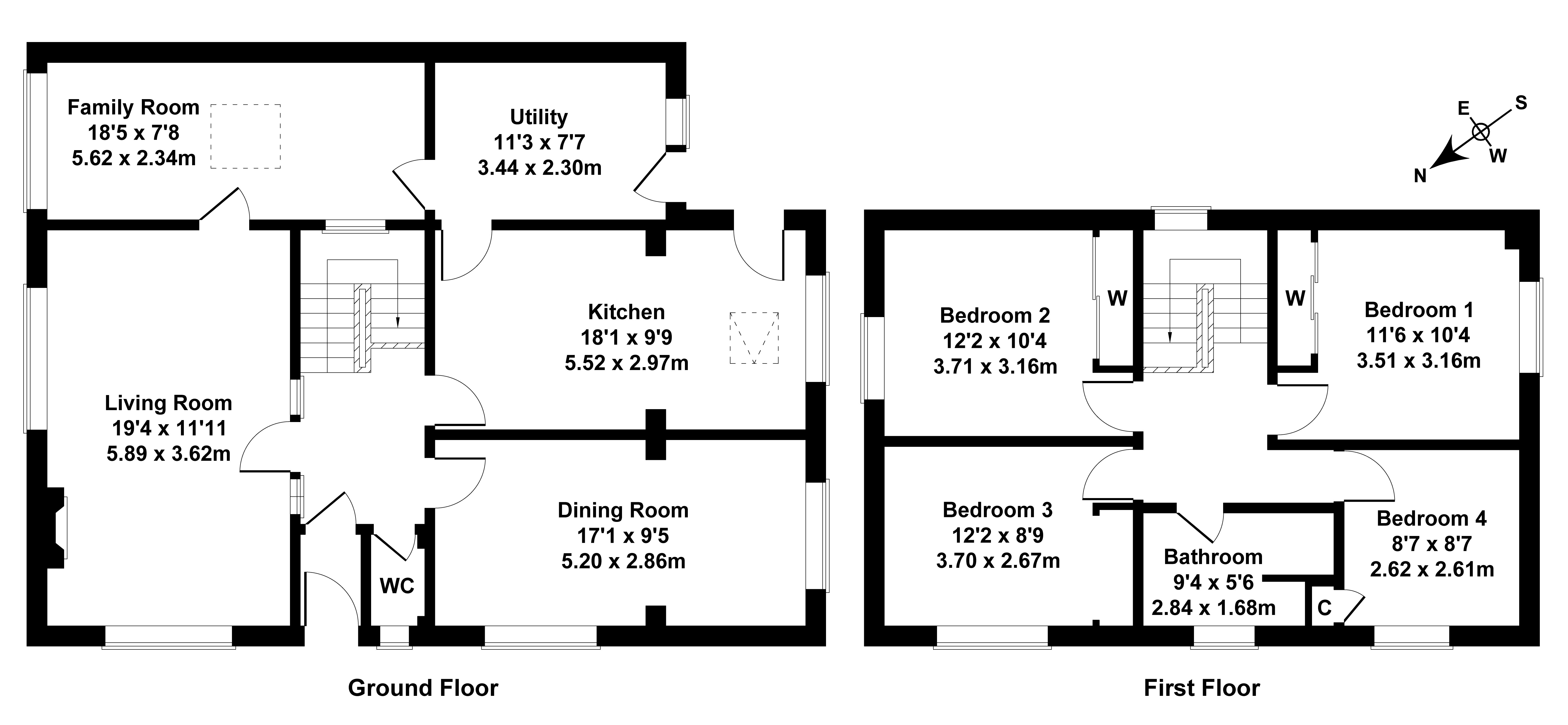 Floorplan 1 of 108 Tryst Park, Fairmilehead, Edinburgh, EH10 7HE