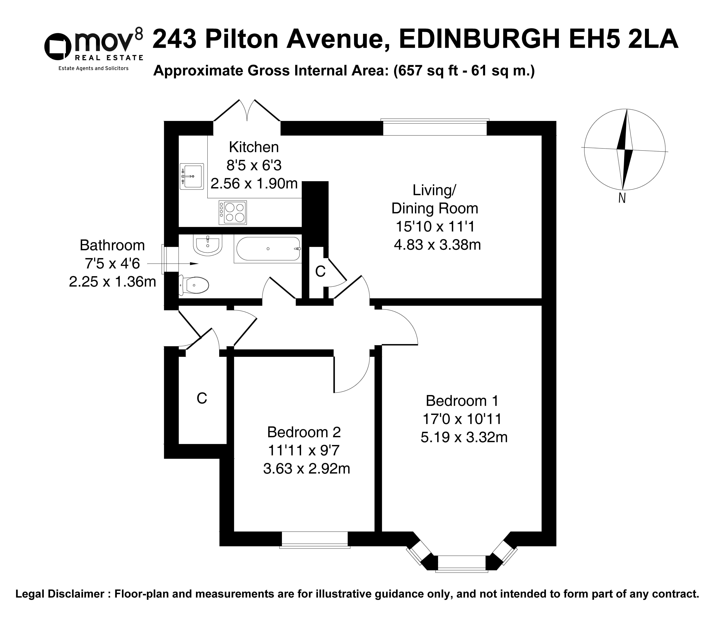 Floorplan 1 of 243 Pilton Avenue, Pilton, Edinburgh, EH5 2LA