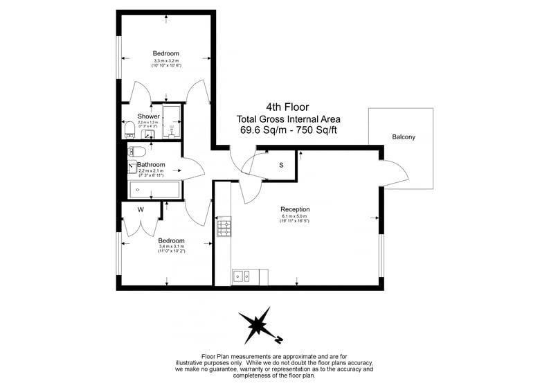 2 bedroom(s) apartment to sale in Hand Axe Yard, Kings Cross, London-Floorplan