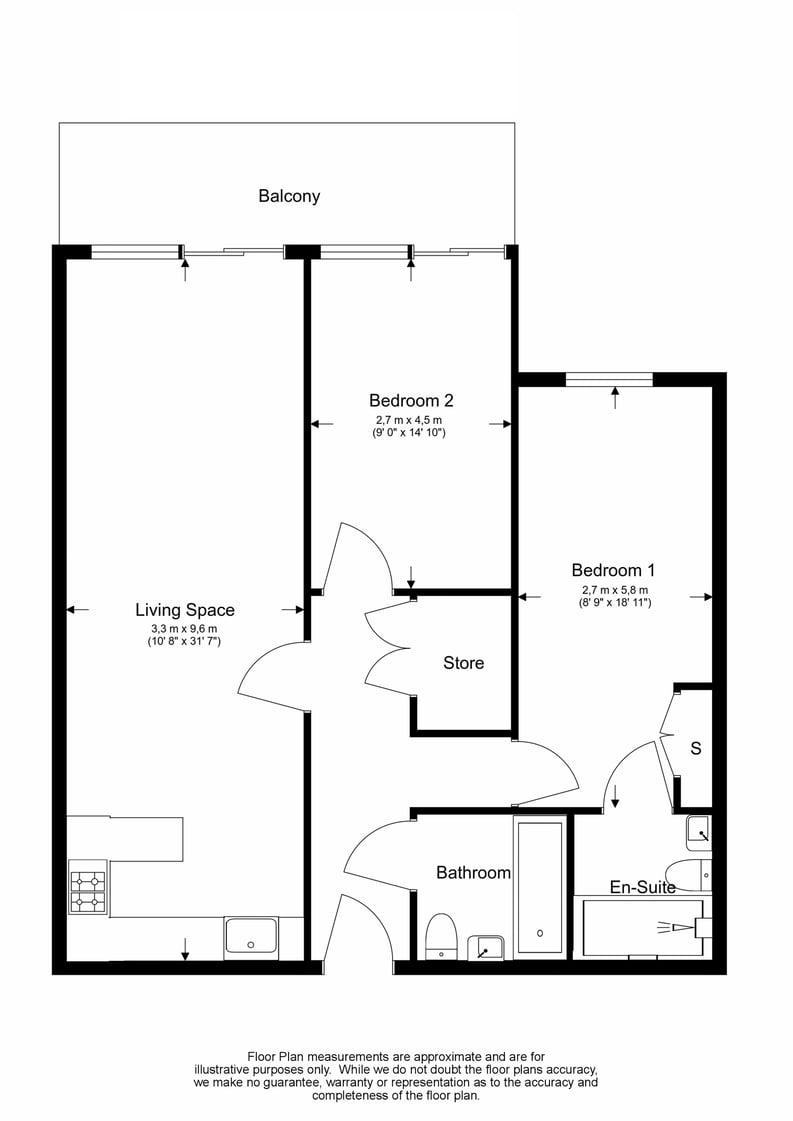 2 bedroom(s) apartment to sale in Boulevard Drive, London-Floorplan