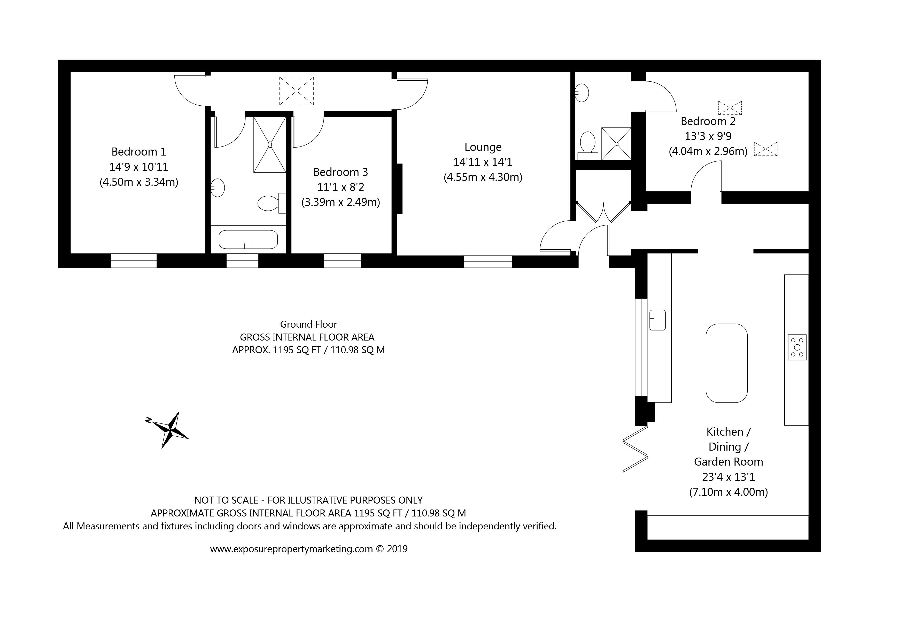 St Giles Road, Skelton, York property floorplan