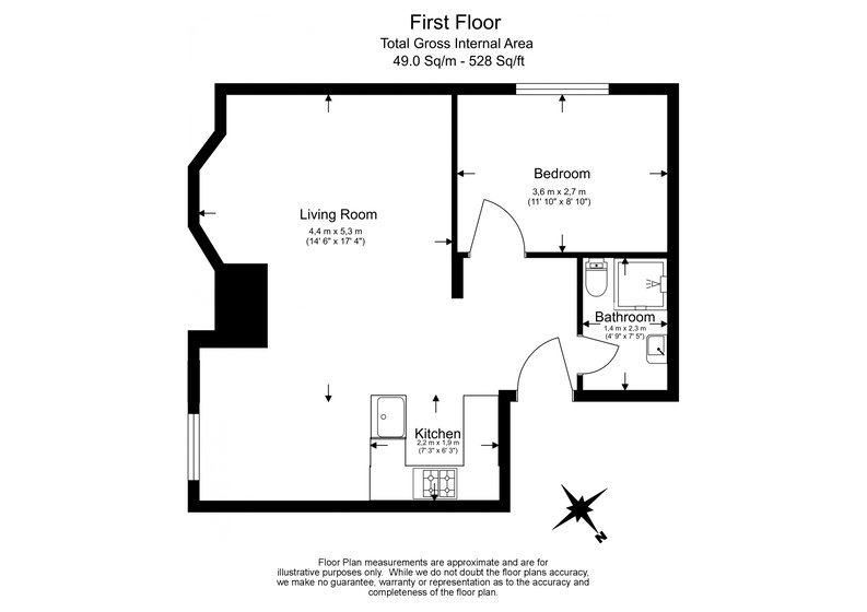 1 bedroom(s) apartment to sale in Montpelier Road, Ealing-Floorplan