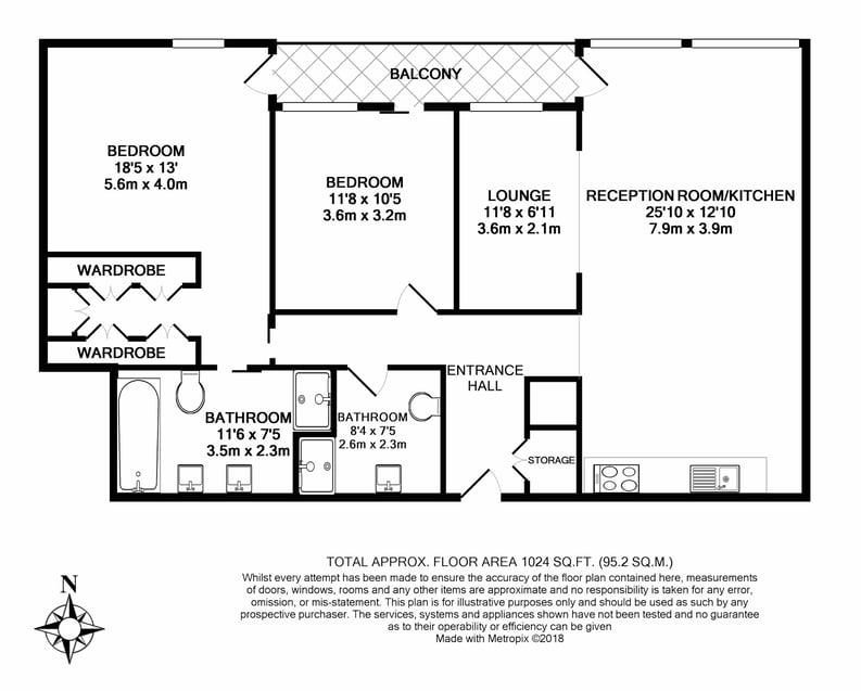 3 bedroom(s) apartment to sale in Rathbone Place, Fitzrovia-Floorplan