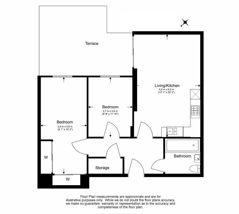 2 bedroom(s) apartment to sale in Napier House, Bromyard Avenue, Napier West, London-Floorplan