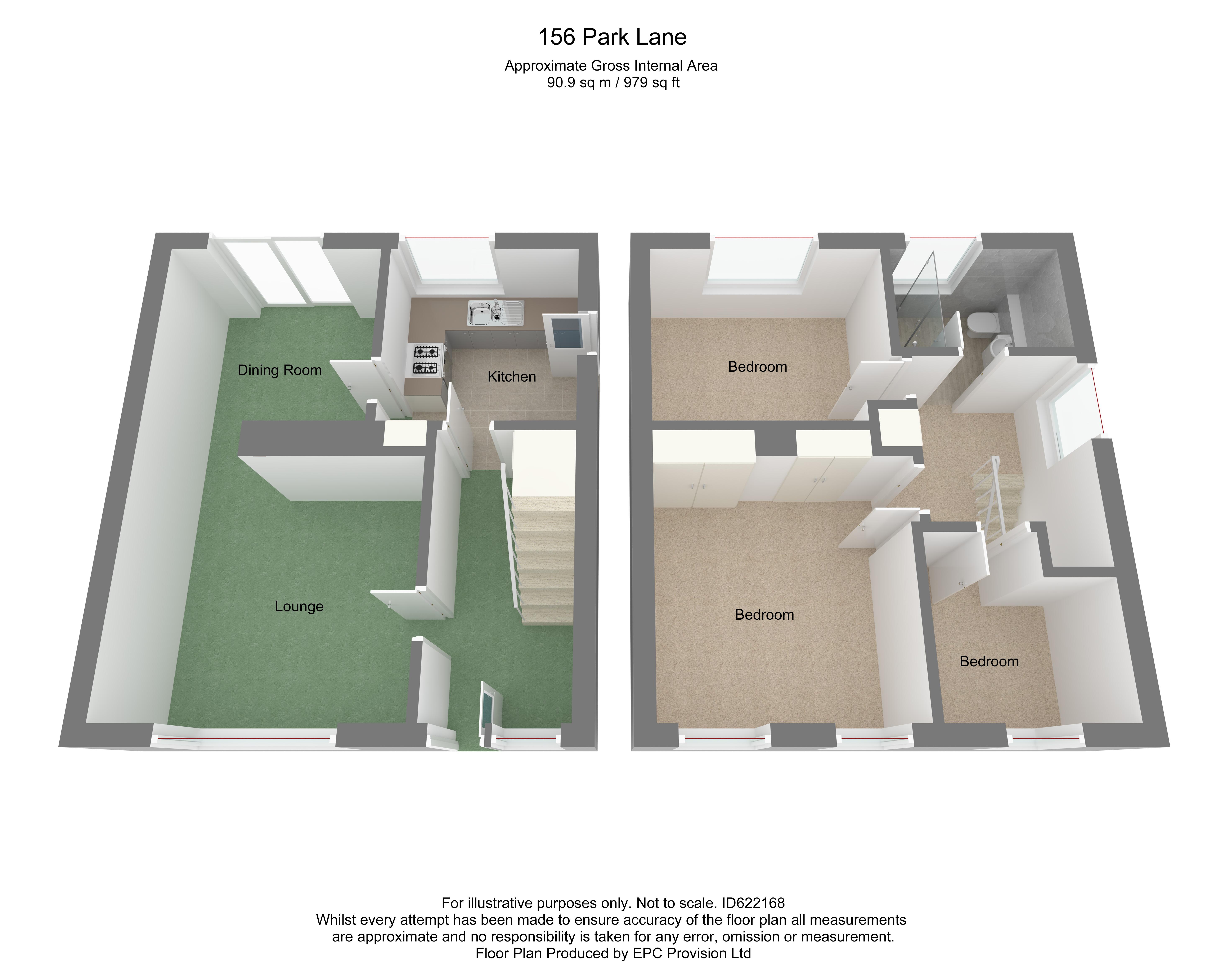 Floorplan for Park Lane, Frampton Cotterell.