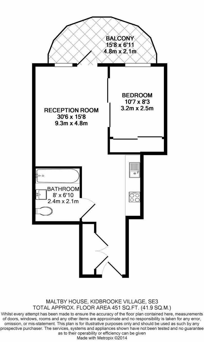 1 bedroom(s) apartment to sale in Maltby House, 18 Tudway Road, Kidbrooke Village , Kidbrooke-Floorplan