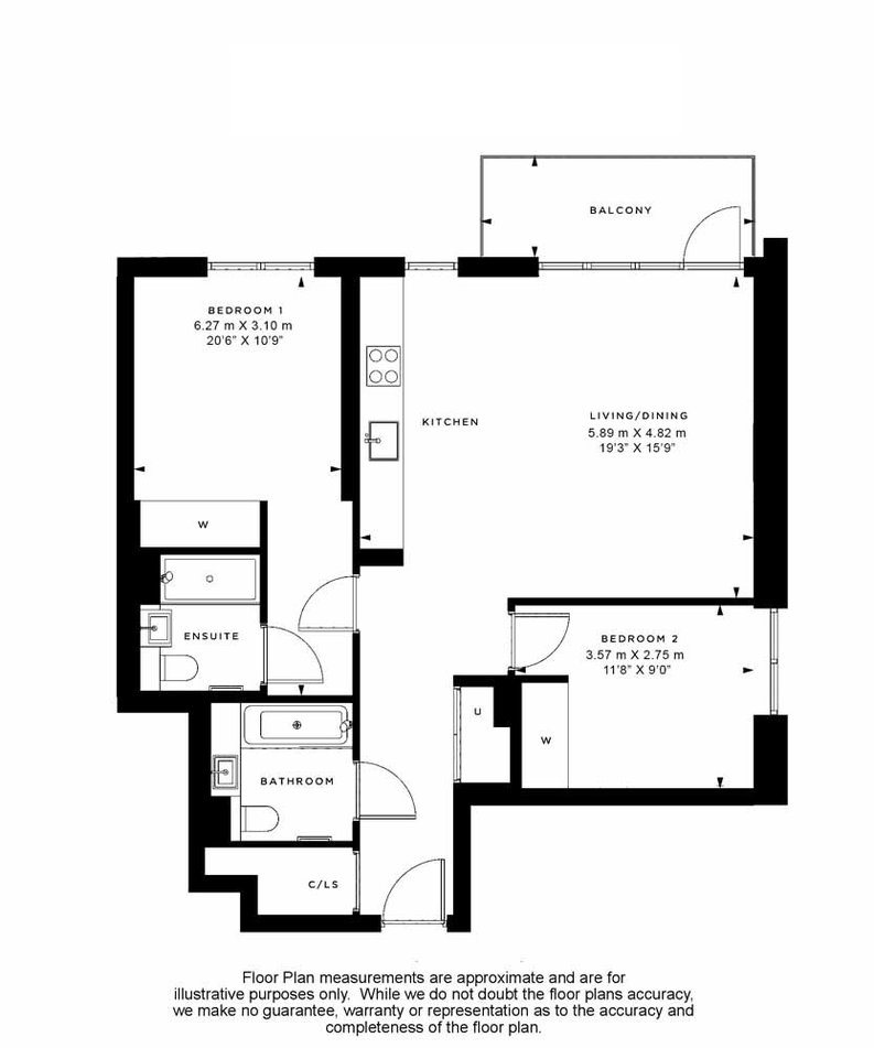 2 bedroom(s) apartment to sale in Fountain Park Way, White City, London-Floorplan