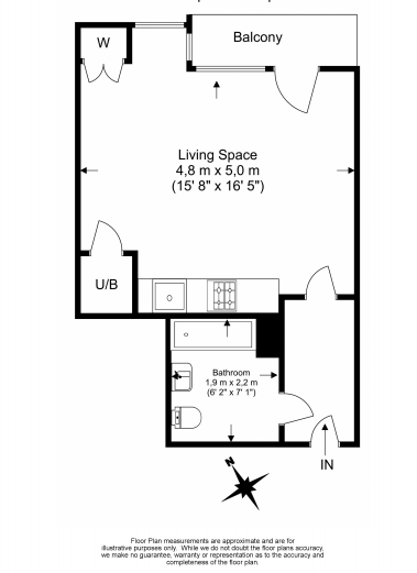 1 bedroom(s) apartment to sale in Slate House, Keymer Place, Limehouse, London-Floorplan