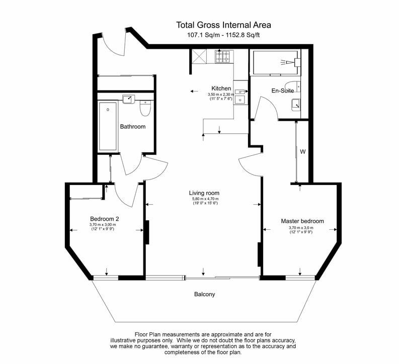 2 bedroom(s) apartment to sale in Merchant Square, Paddington, London-Floorplan