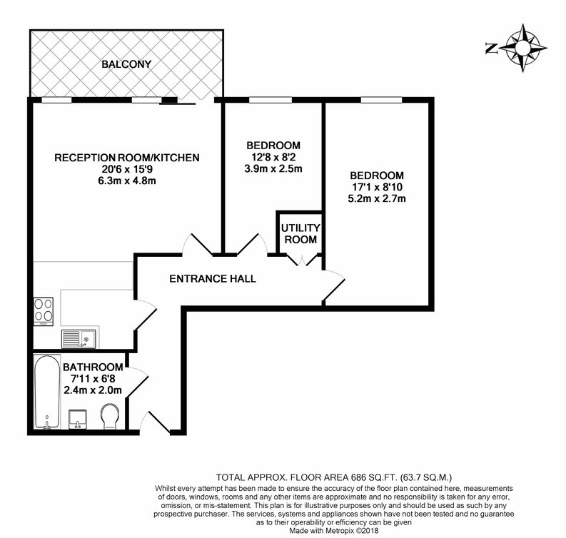 2 bedroom(s) apartment to sale in East Drive, Colindale, London-Floorplan