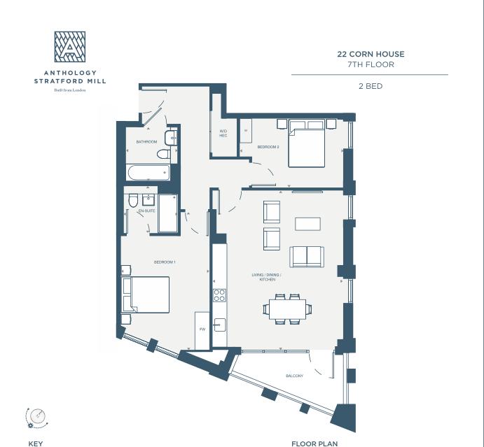 2 bedroom(s) apartment to sale in 10 Marshgate Lane, Stratford, London-Floorplan