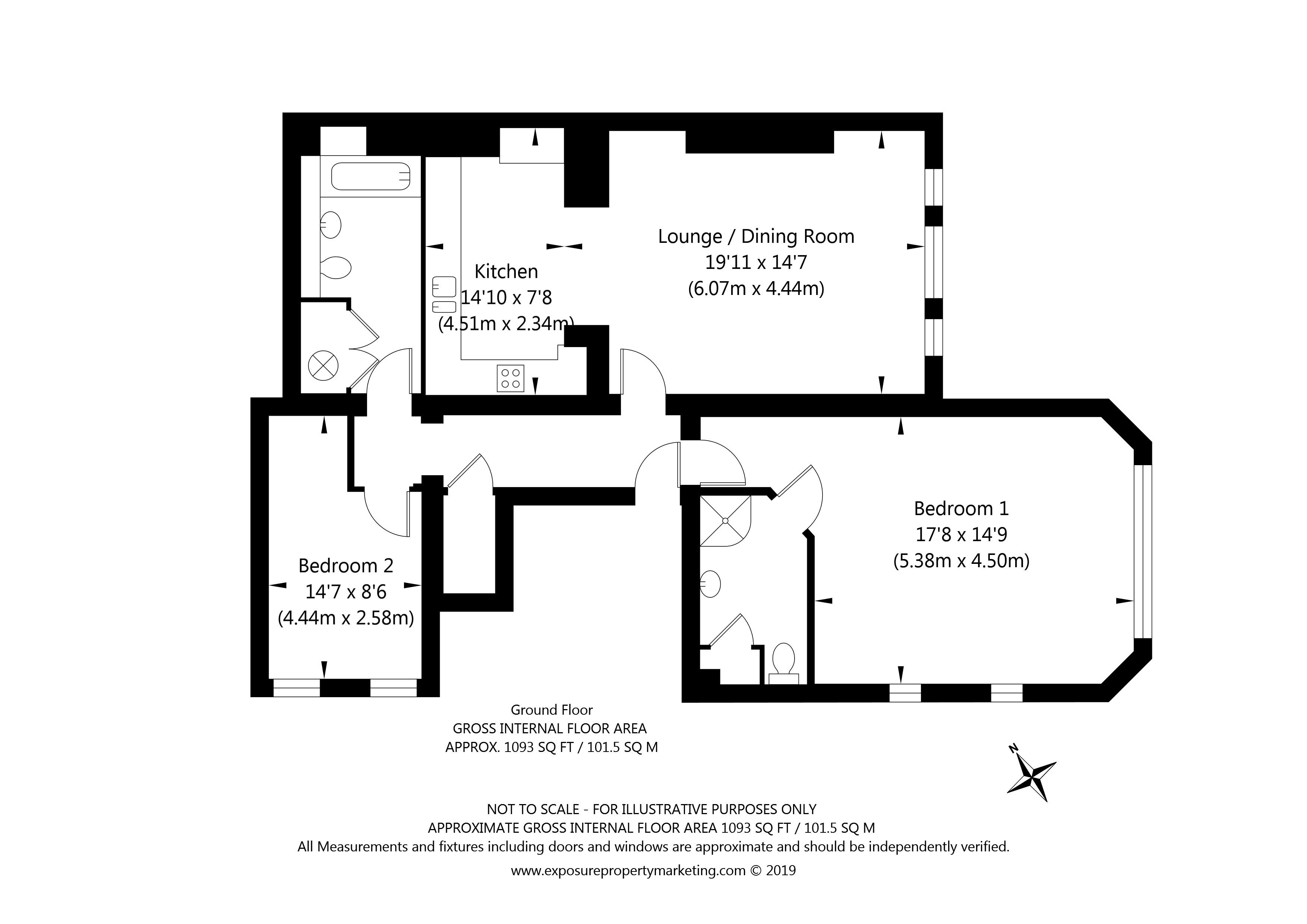 Limetree Court, York property floorplan