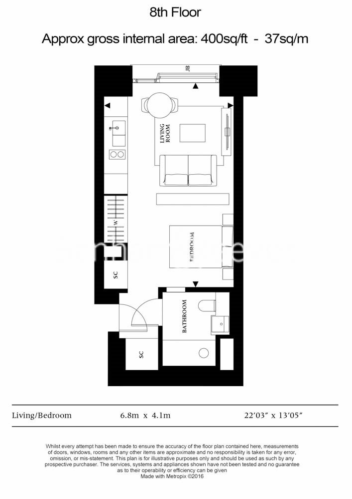 1 bedroom(s) apartment to sale in Casson Square, Southbank Place, Waterloo, London-Floorplan