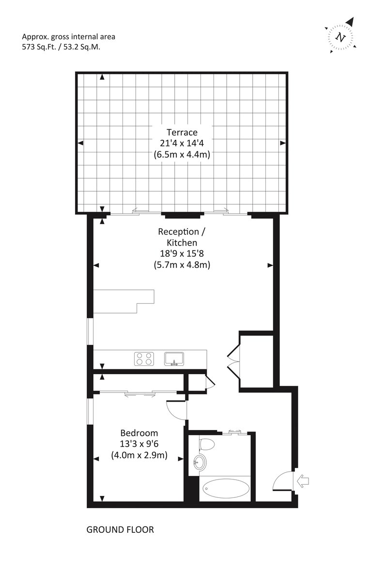 1 bedroom(s) apartment to sale in Rosamond House, 4 Elizabeth Court, Westminster-Floorplan