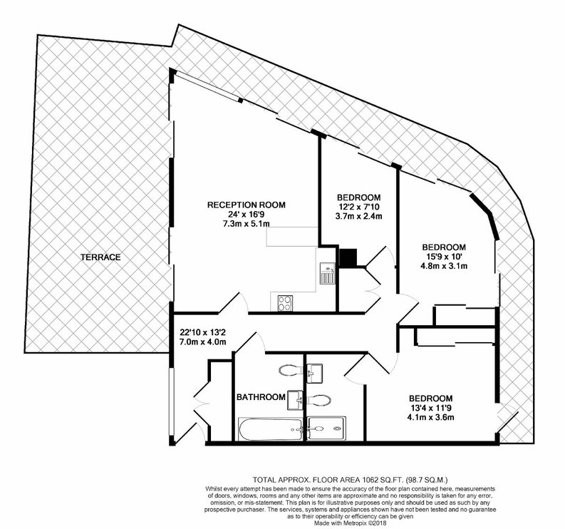 3 bedroom(s) apartment to sale in Quartz House, Dickens Yard, Ealing-Floorplan