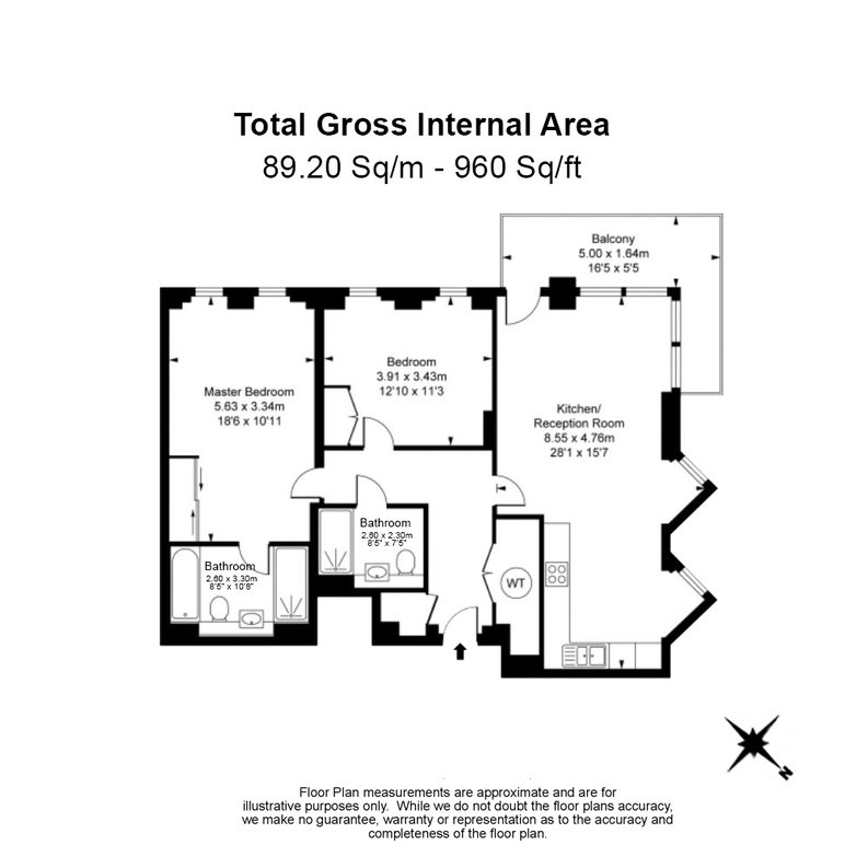 2 bedroom(s) apartment to sale in Westbourne Apartments, Central Avenue, Fulham-Floorplan