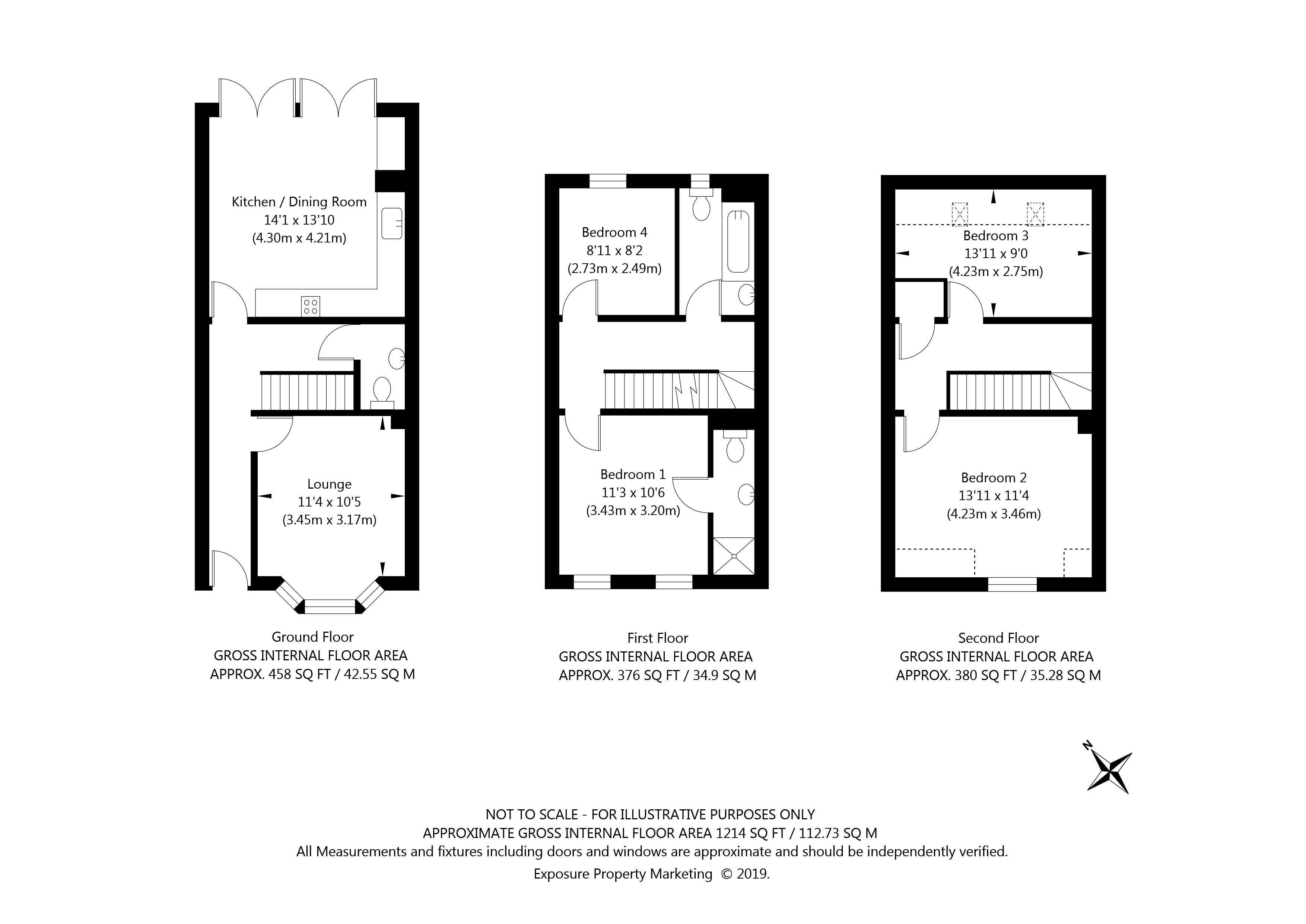 Penleys Grove Street, York property floorplan