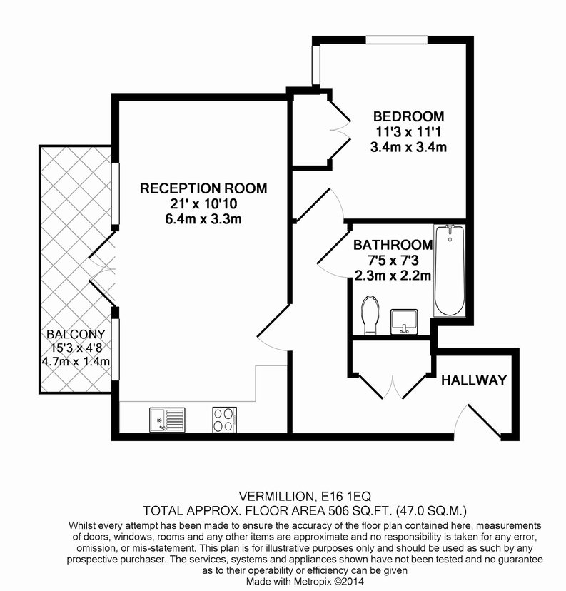 1 bedroom(s) apartment to sale in 30 Barking Road, Canning Town, London-Floorplan