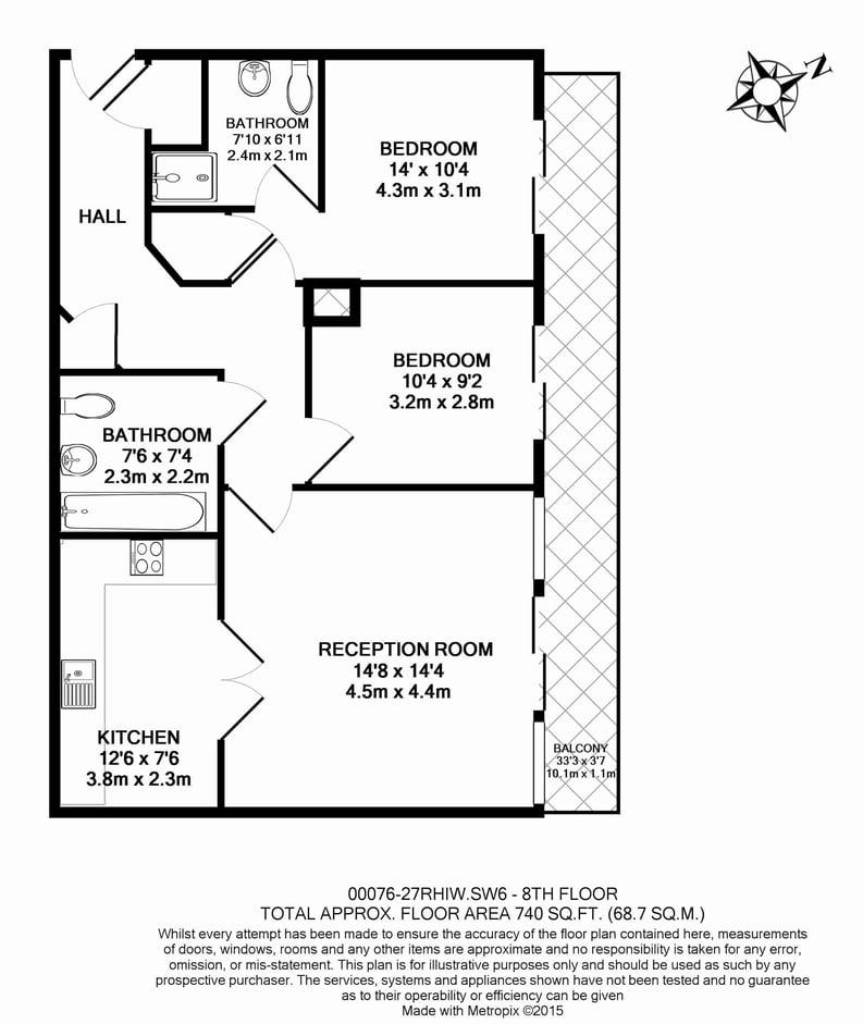 2 bedroom(s) apartment to sale in The Boulevard, Fulham, London-Floorplan
