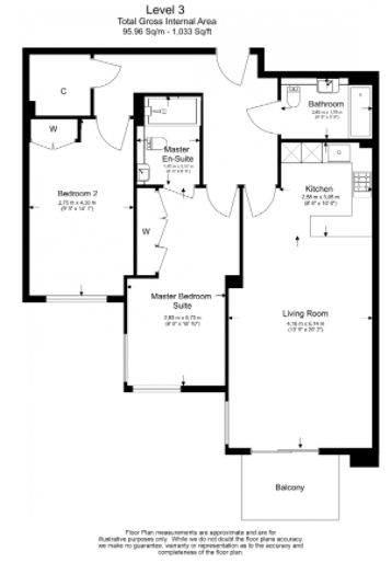 2 bedroom(s) apartment to sale in Brunswick House, Parr's Way, Fulham-Floorplan